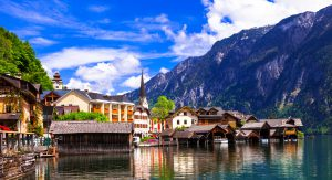 Hallstat - beautiful Alpine paradise village in the lakeside, Austria